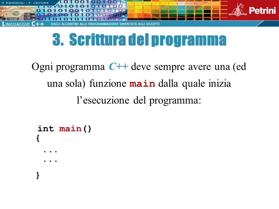 3. Scrittura del programma