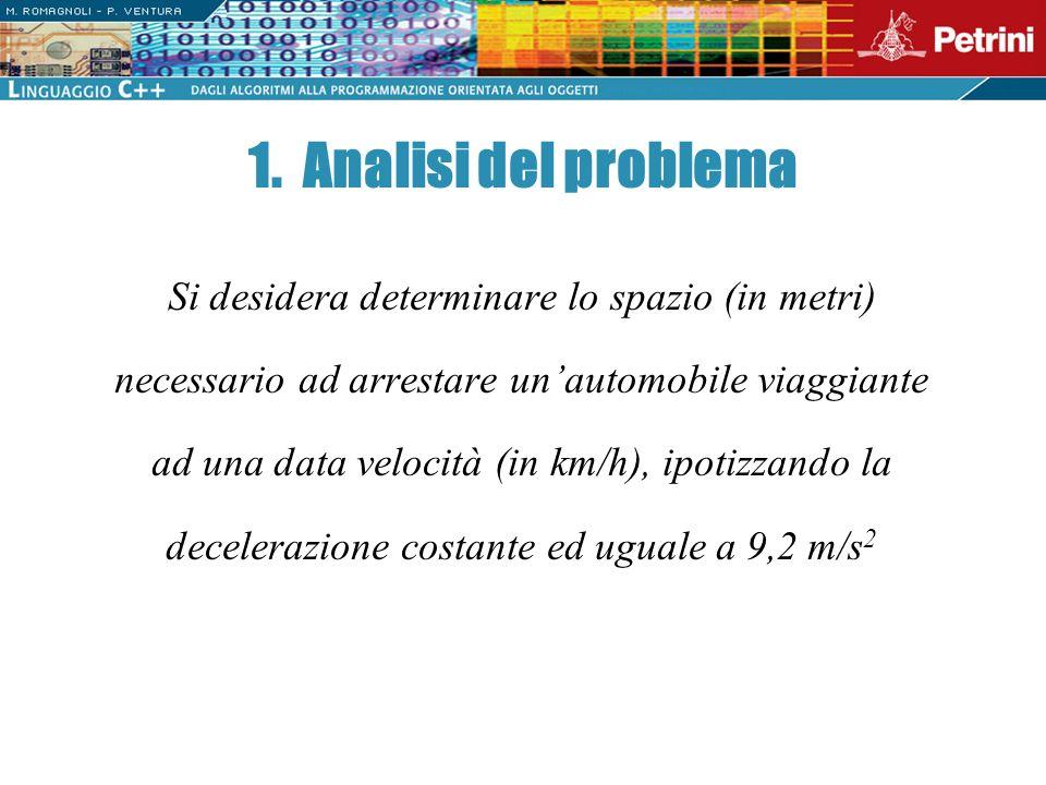 1. Analisi del problema