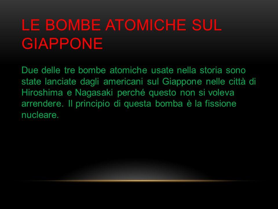 Le bombe atomiche sul Giappone