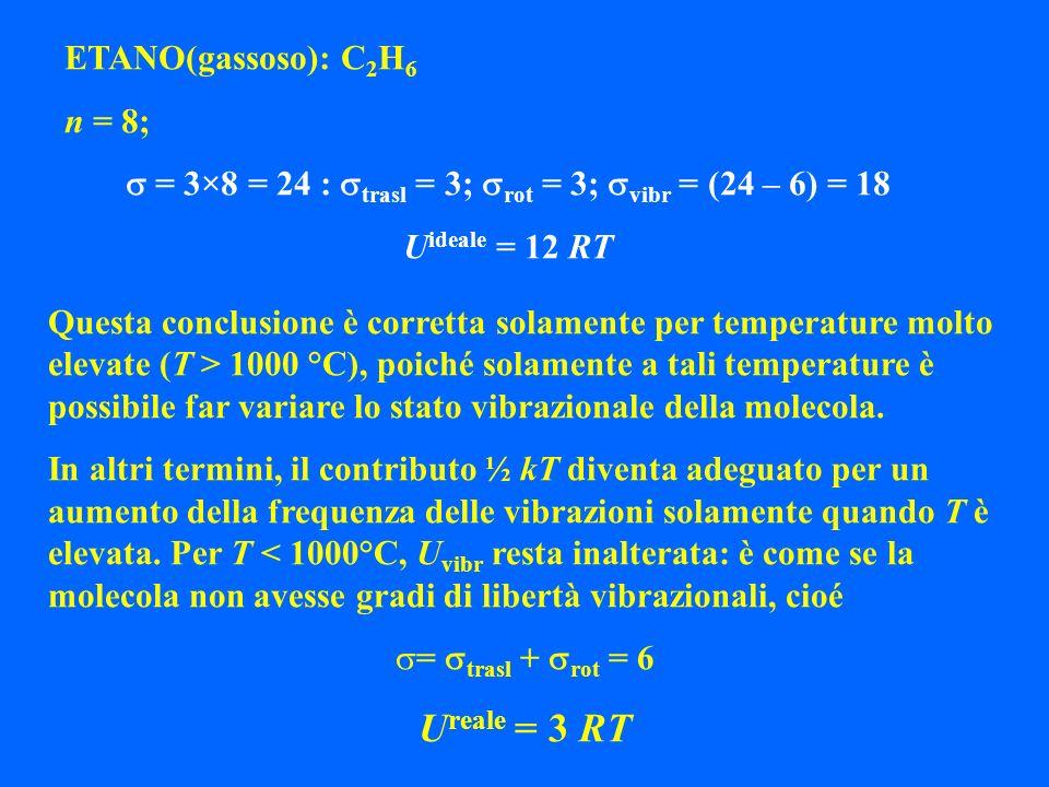 s = 3×8 = 24 : strasl = 3; srot = 3; svibr = (24 – 6) = 18