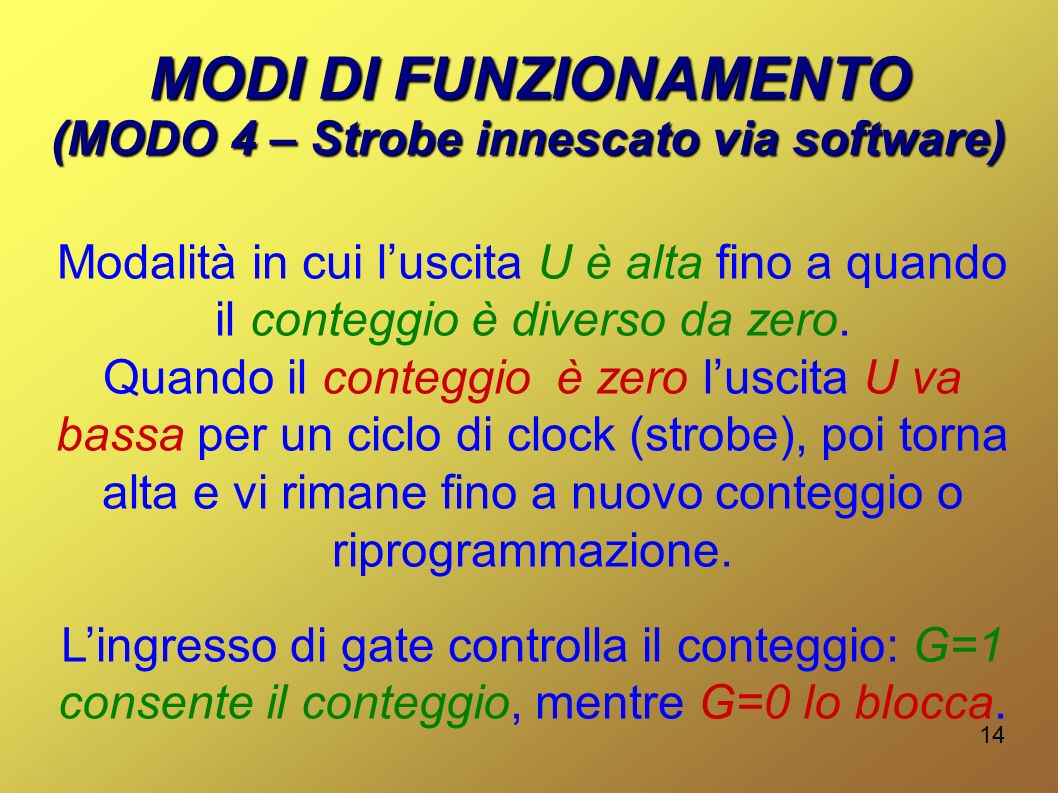 (MODO 4 – Strobe innescato via software)