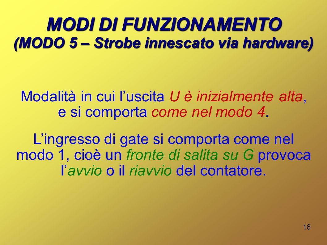 (MODO 5 – Strobe innescato via hardware)