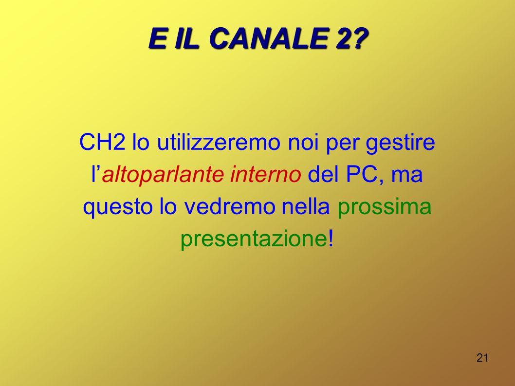 E IL CANALE 2.