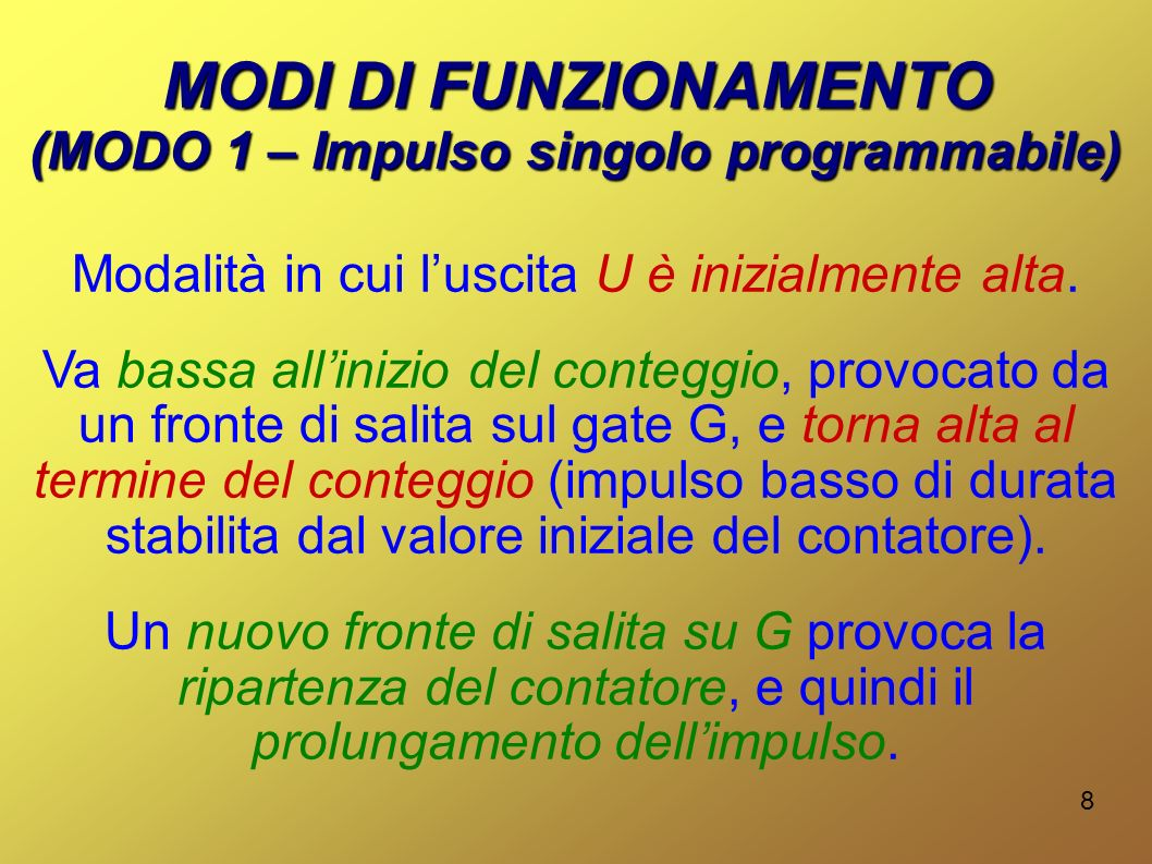 (MODO 1 – Impulso singolo programmabile)