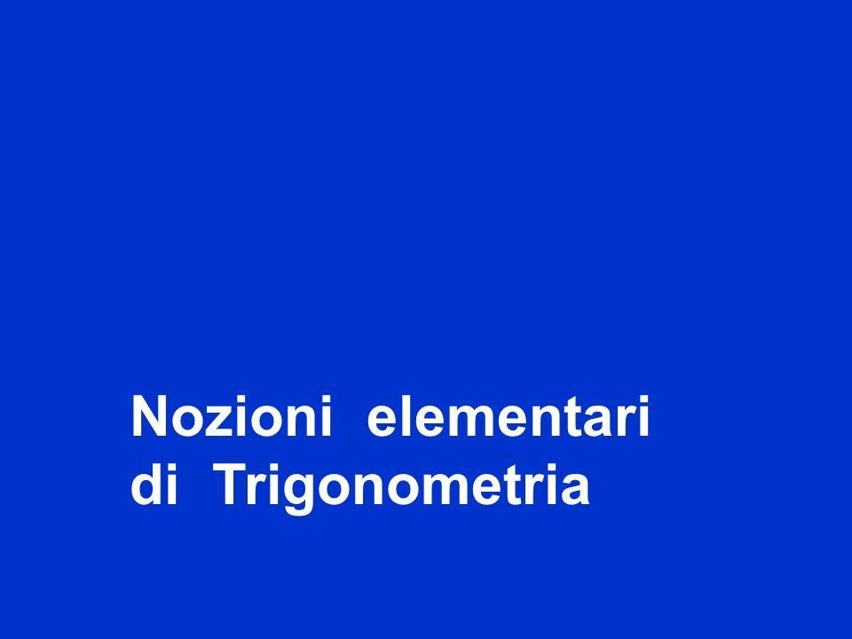 titolo Nozioni elementari di Trigonometria