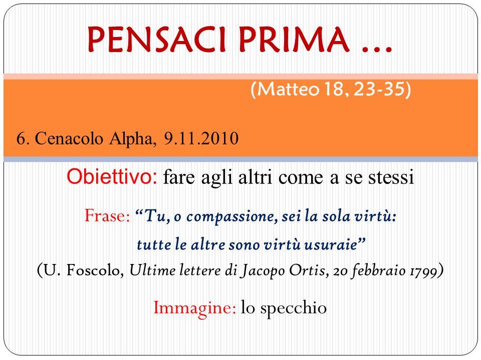 PENSACI PRIMA … (Matteo 18, 23-35)