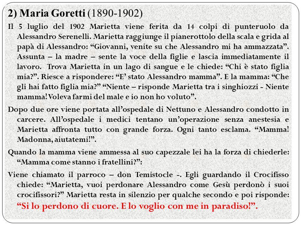 2) Maria Goretti (1890-1902)