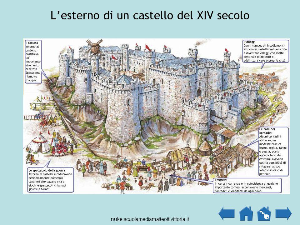 L'esterno di un castello del XIV secolo