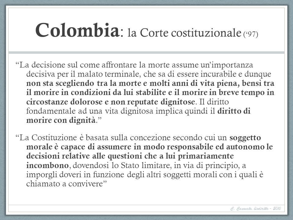 Colombia: la Corte costituzionale ('97)