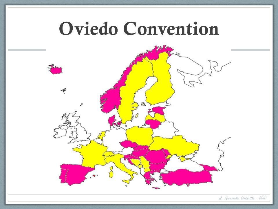 Oviedo Convention Più svizzera (1 novembre 2008) Bosnia ed Erzegovina 11 maggio 2007 1° settembre 2007.