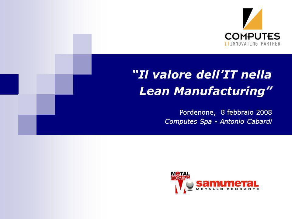 Il valore dell'IT nella Lean Manufacturing