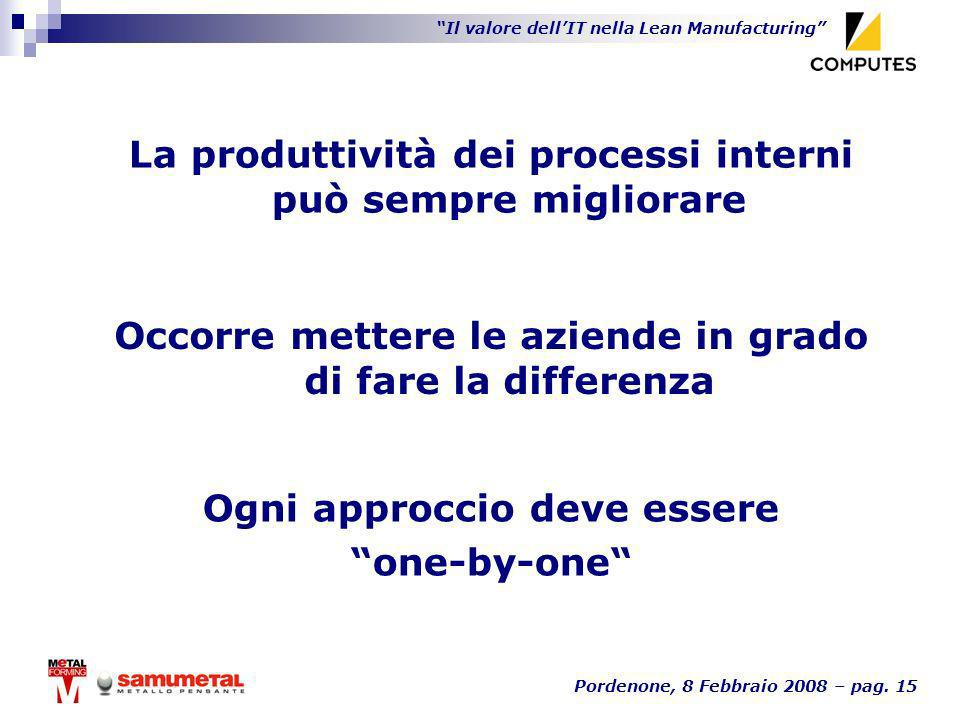 La produttività dei processi interni può sempre migliorare