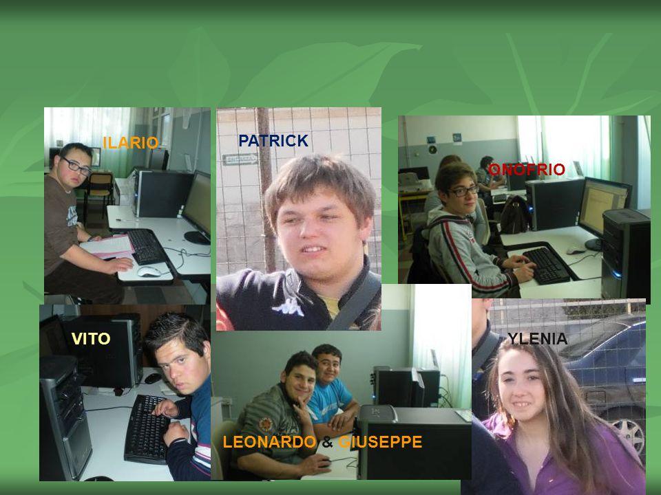 ILARIO PATRICK ONOFRIO VITO YLENIA LEONARDO & GIUSEPPE