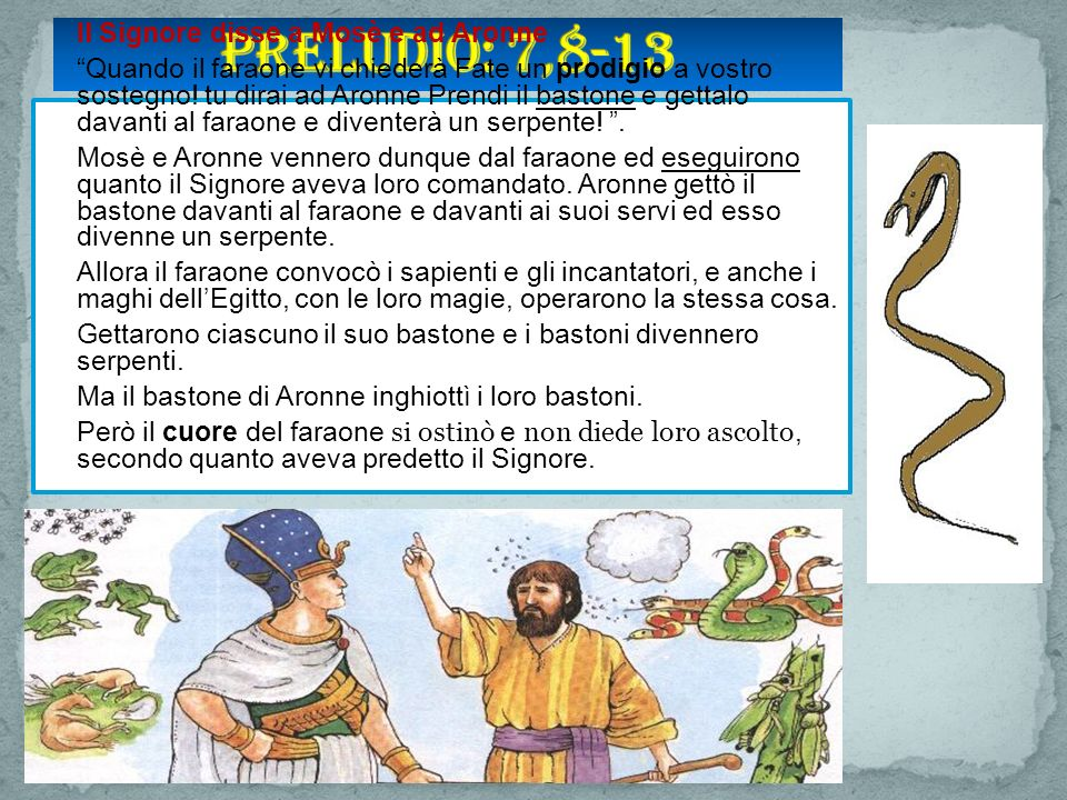 Preludio: 7,8-13 Il Signore disse a Mosè e ad Aronne.