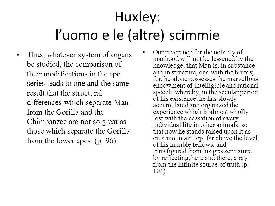 Huxley: l'uomo e le (altre) scimmie