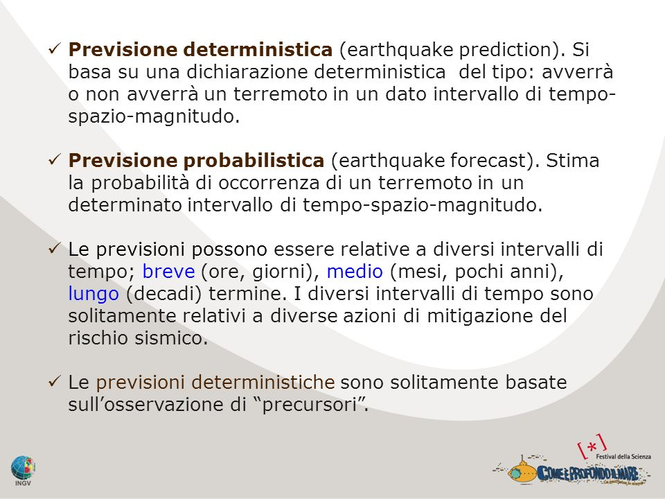 Previsione deterministica (earthquake prediction)
