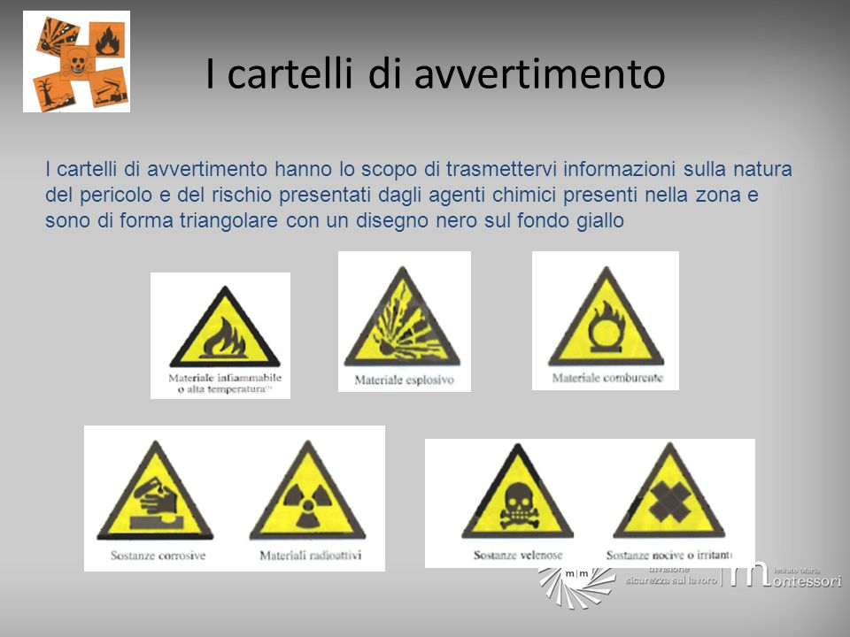 I cartelli di avvertimento