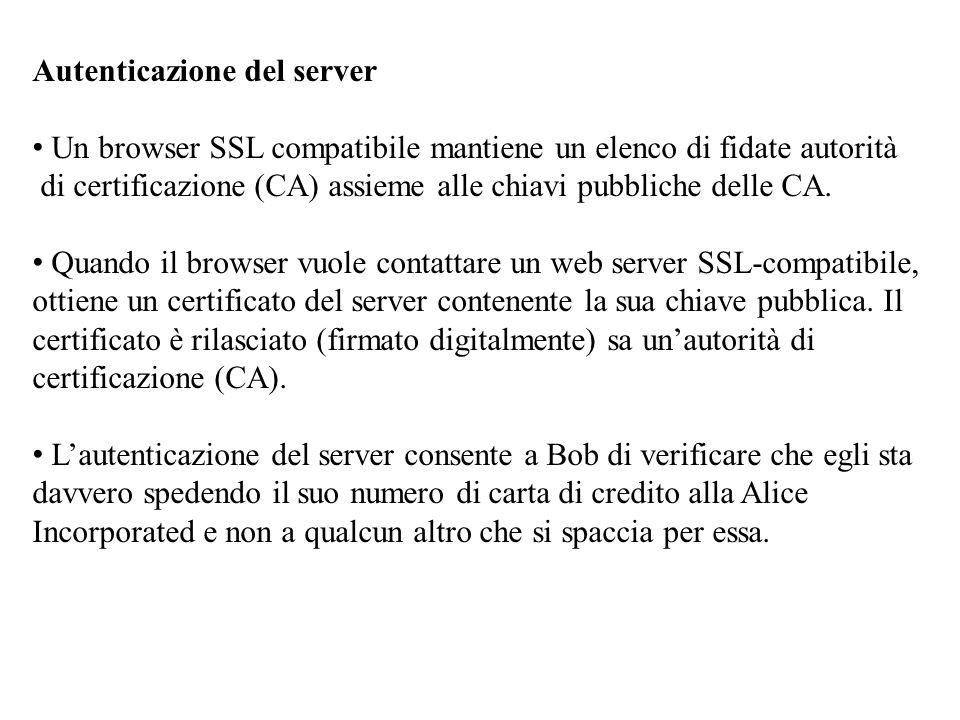 Autenticazione del server