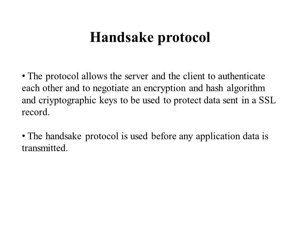 Handsake protocol