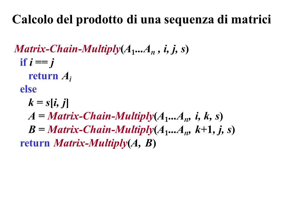 Calcolo del prodotto di una sequenza di matrici