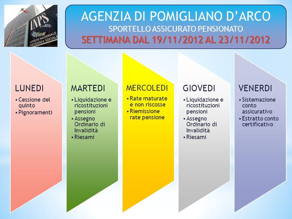 AGENZIA DI POMIGLIANO D'ARCO SPORTELLO ASSICURATO PENSIONATO