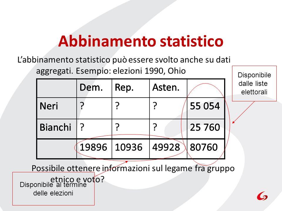 Abbinamento statistico