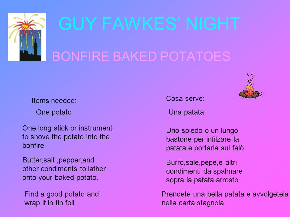 BONFIRE BAKED POTATOES