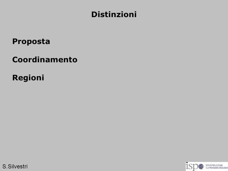 Distinzioni Proposta Coordinamento Regioni S.Silvestri