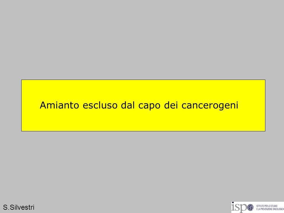 Amianto escluso dal capo dei cancerogeni