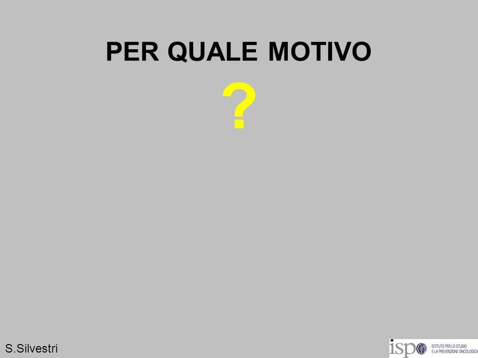 PER QUALE MOTIVO S.Silvestri