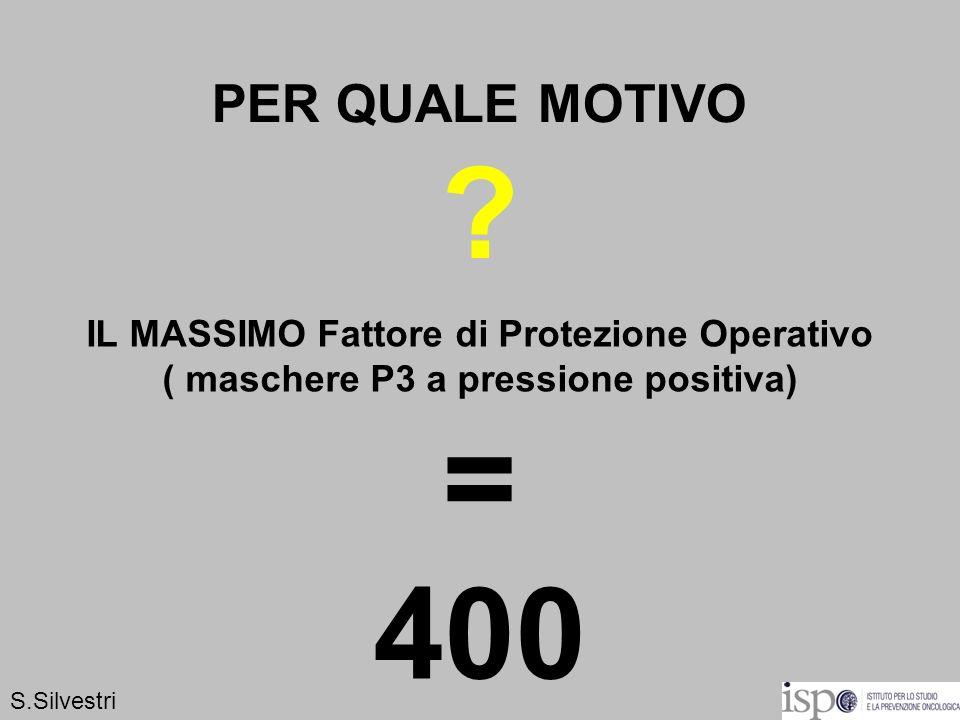 = 400 PER QUALE MOTIVO IL MASSIMO Fattore di Protezione Operativo