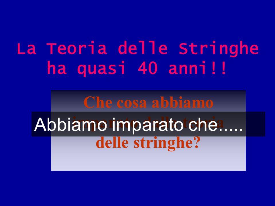 La Teoria delle Stringhe ha quasi 40 anni!!