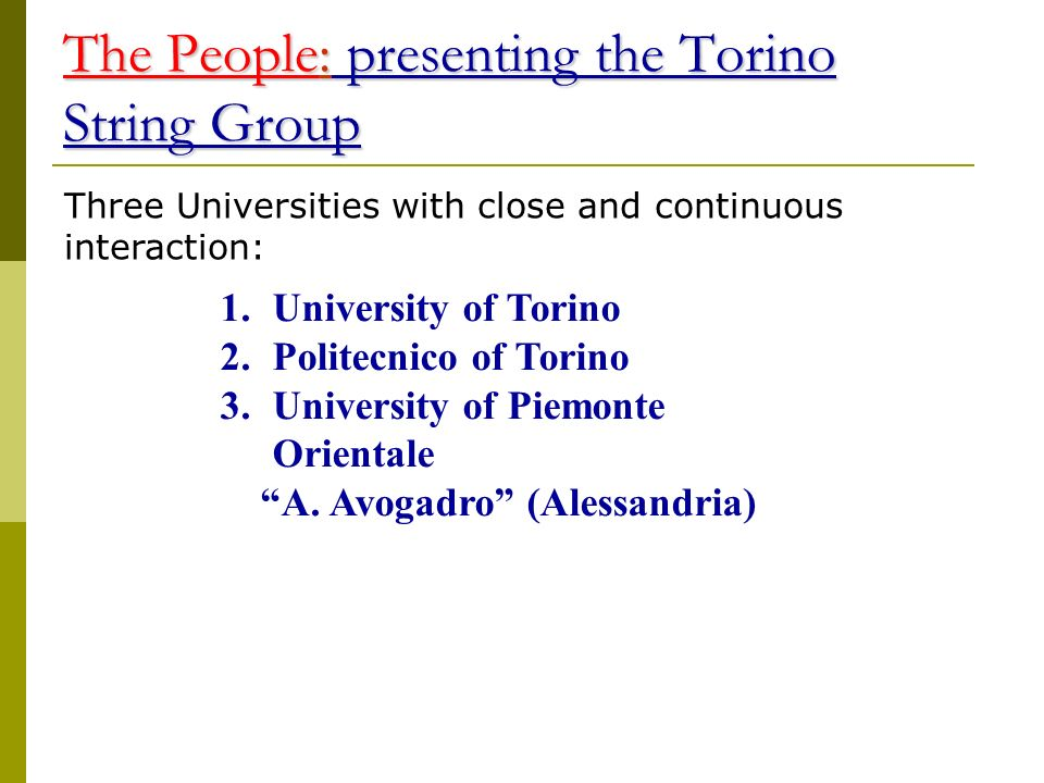 The People: presenting the Torino String Group