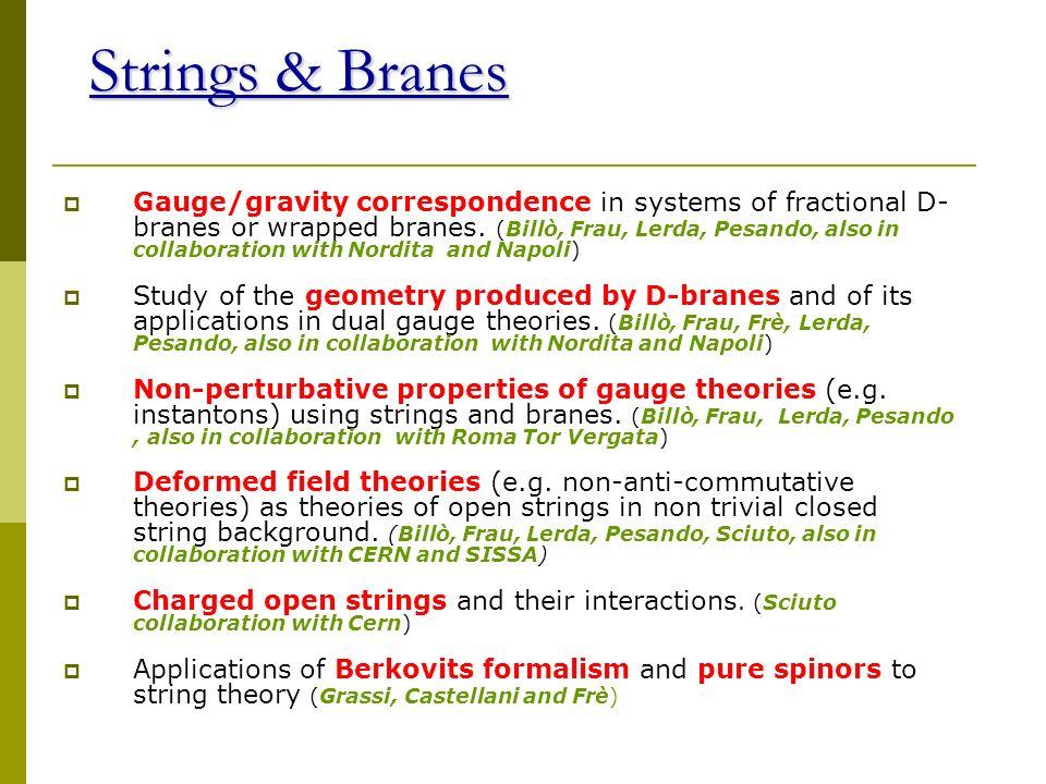 Strings & Branes