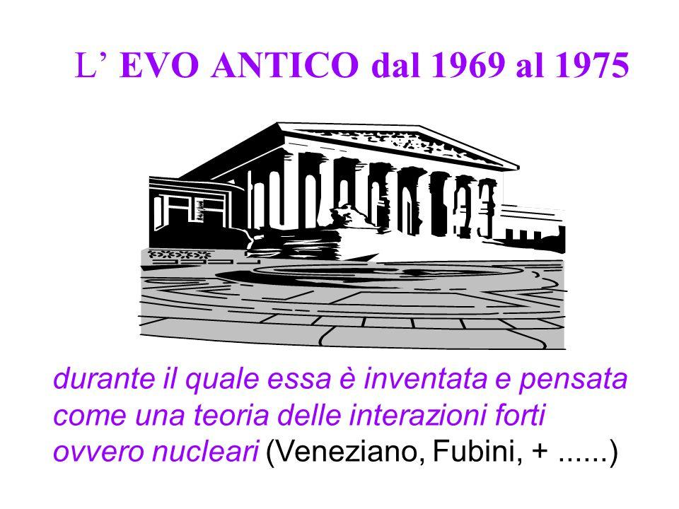 L' EVO ANTICO dal 1969 al 1975