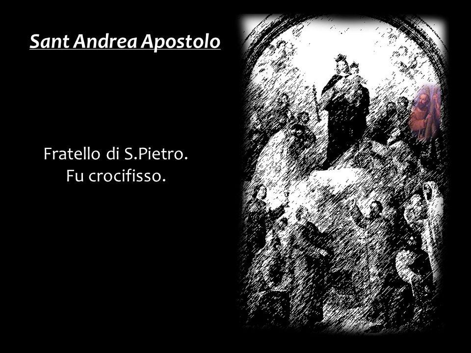 Sant Andrea Apostolo Fratello di S.Pietro. Fu crocifisso.