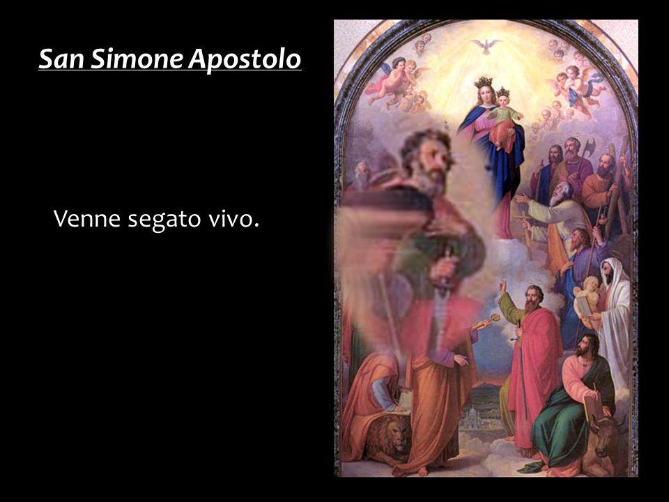 San Simone Apostolo Venne segato vivo.