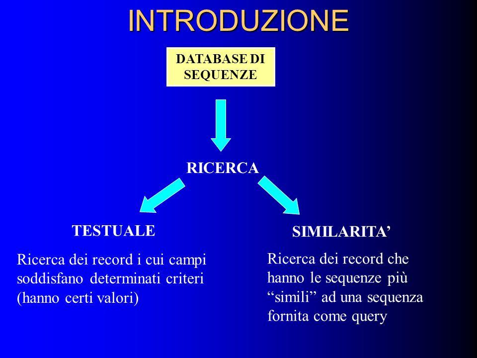 INTRODUZIONE RICERCA TESTUALE SIMILARITA'