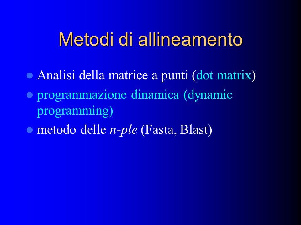 Metodi di allineamento