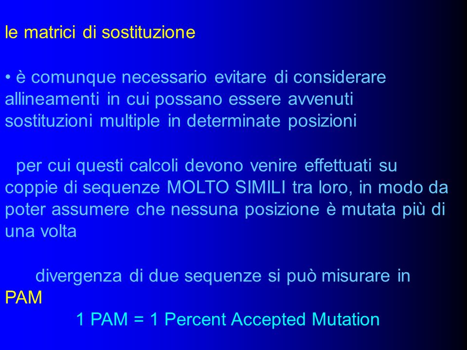 1 PAM = 1 Percent Accepted Mutation