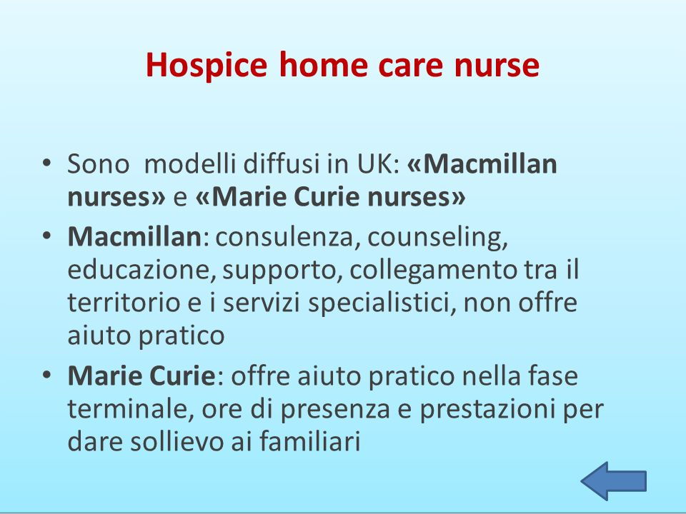 Hospice home care nurse