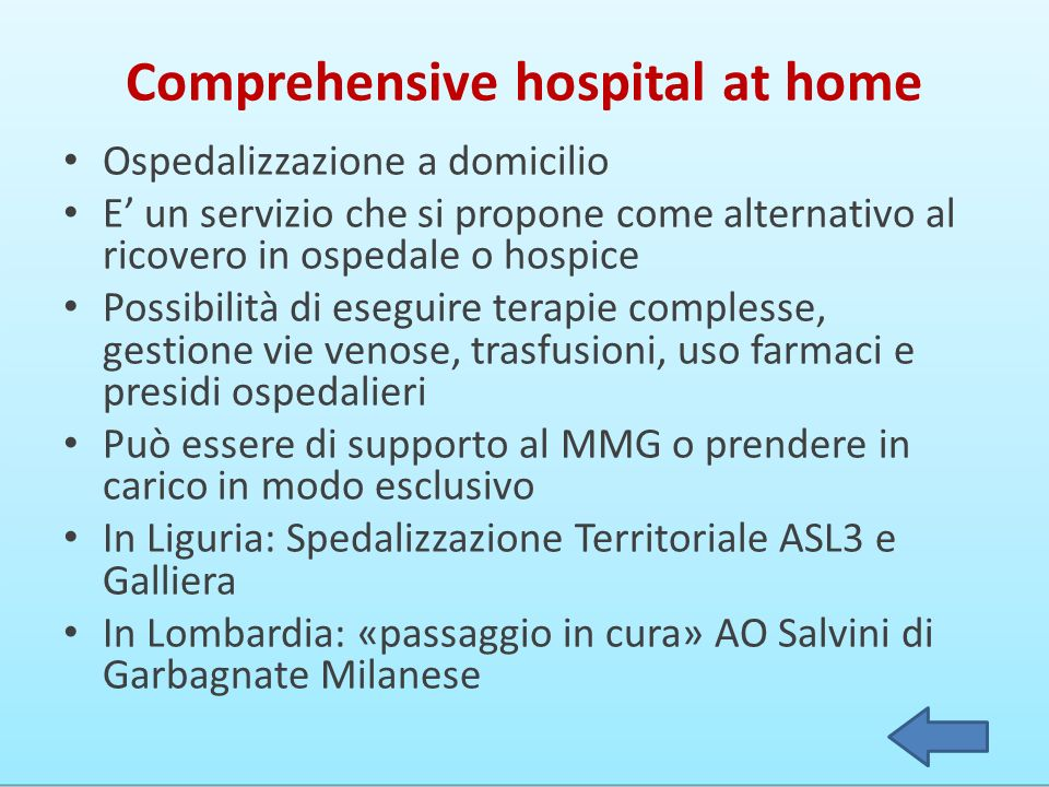 Comprehensive hospital at home
