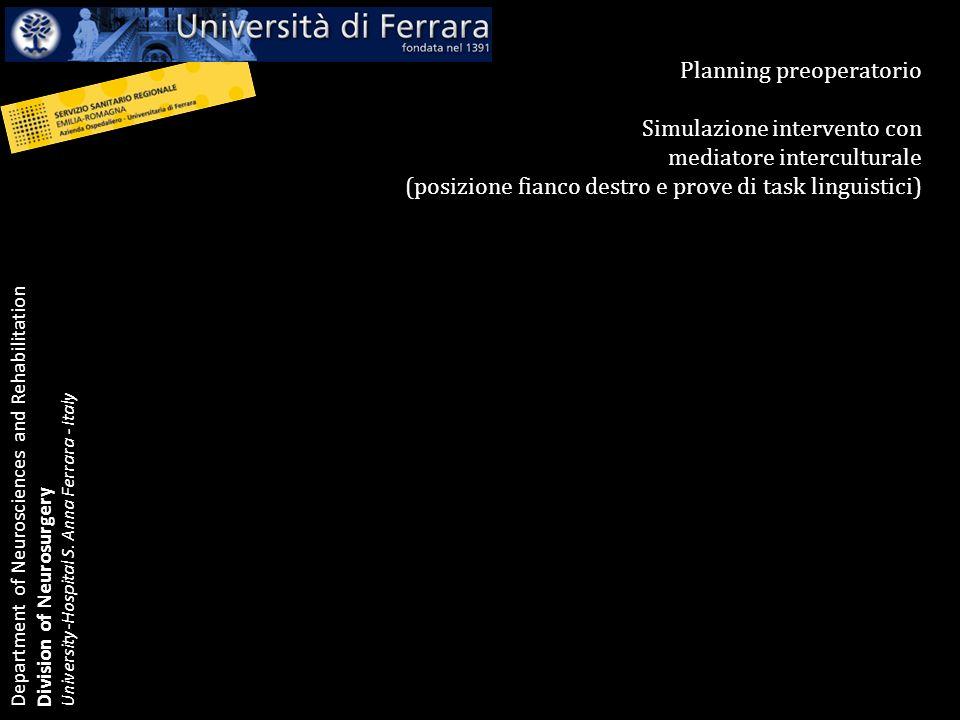 Planning preoperatorio Simulazione intervento con