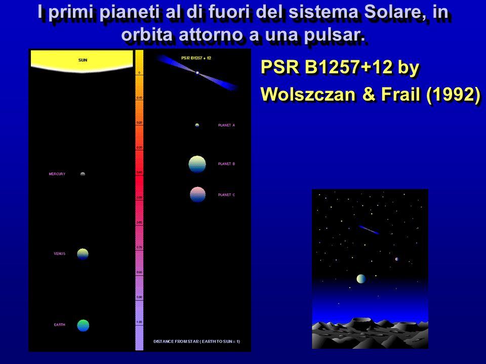 I primi pianeti al di fuori del sistema Solare, in orbita attorno a una pulsar.