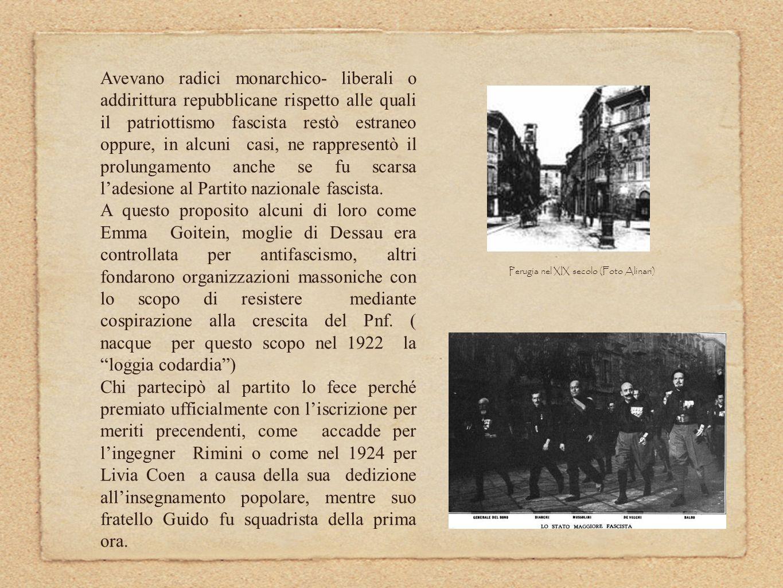 Perugia nel XIX secolo (Foto Alinari)
