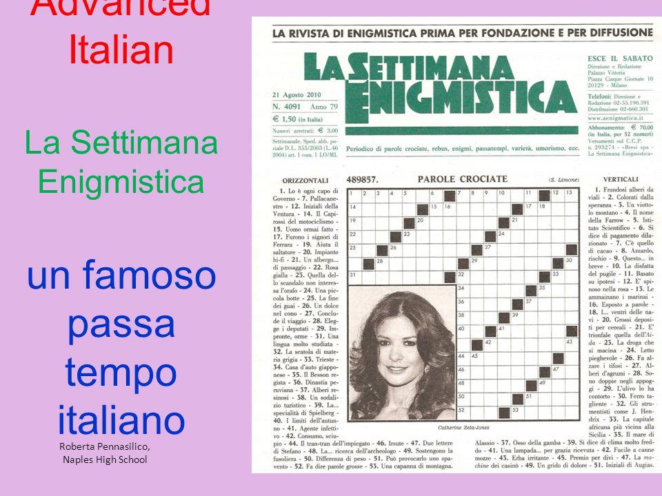 Advanced Italian La Settimana Enigmistica un famoso passa tempo italiano