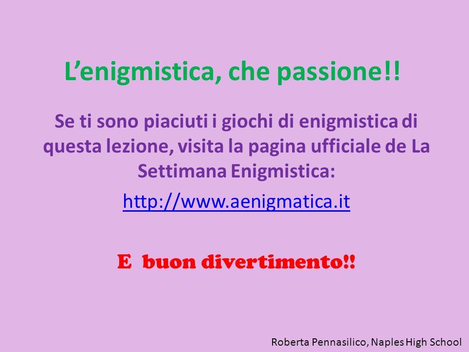 L'enigmistica, che passione!!