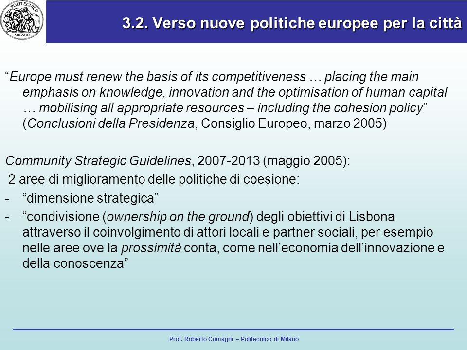 3.2. Verso nuove politiche europee per la città