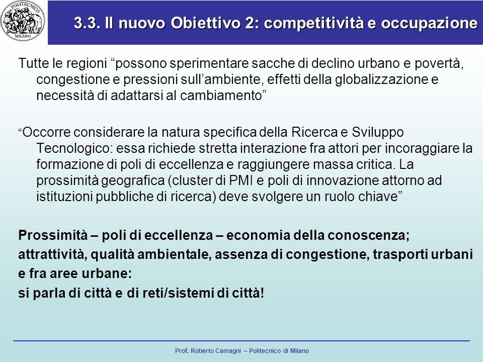 3.3. Il nuovo Obiettivo 2: competitività e occupazione