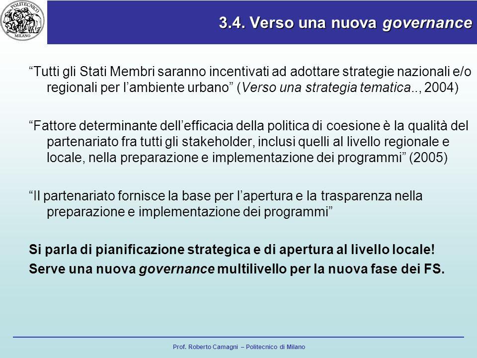 3.4. Verso una nuova governance